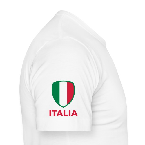 T-Shirt ITALIA CALCIO Blanc - T-shirt près du corps Homme