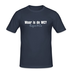 Waar is de WC? slimfit heren T-shirt - slim fit T-shirt