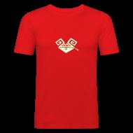 T-Shirts ~ Männer Slim Fit T-Shirt ~ Kiffender, leuchtender Hase (big) Slim-T-Shirt