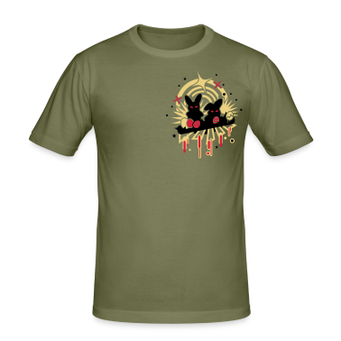 Khaki green Evil Easter  Men's T-Shirts