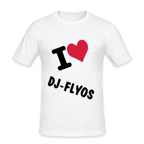 T-shirt Coupe près du corps Homme I Love Dj-Flyos (Production 4) - T-shirt près du corps Homme