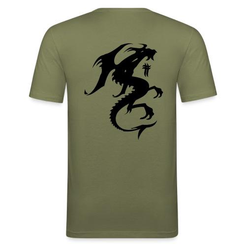 Dragon T-paita - Miesten tyköistuva t-paita