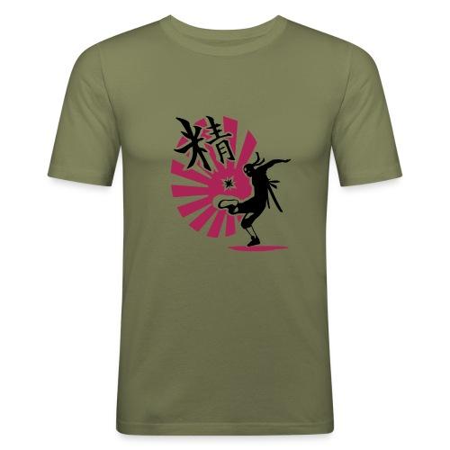HACK NINJA (grün/magenta-schwarz) - Männer Slim Fit T-Shirt