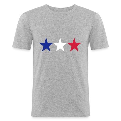 Star-Shirt - Männer Slim Fit T-Shirt