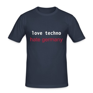 love techno-hate germany - Männer Slim Fit T-Shirt