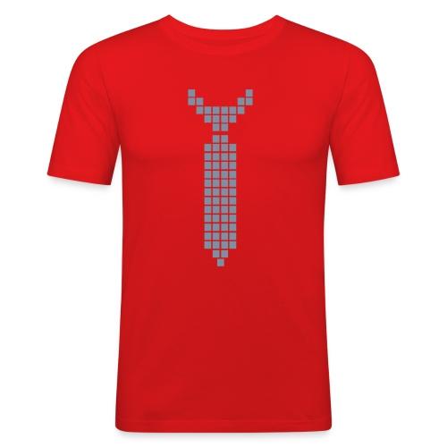 Tee Tie Shirt : Silver Pixel - T-shirt près du corps Homme