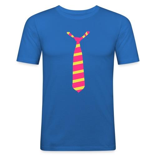 Tee Tie Shirt : Classic Blue - T-shirt près du corps Homme
