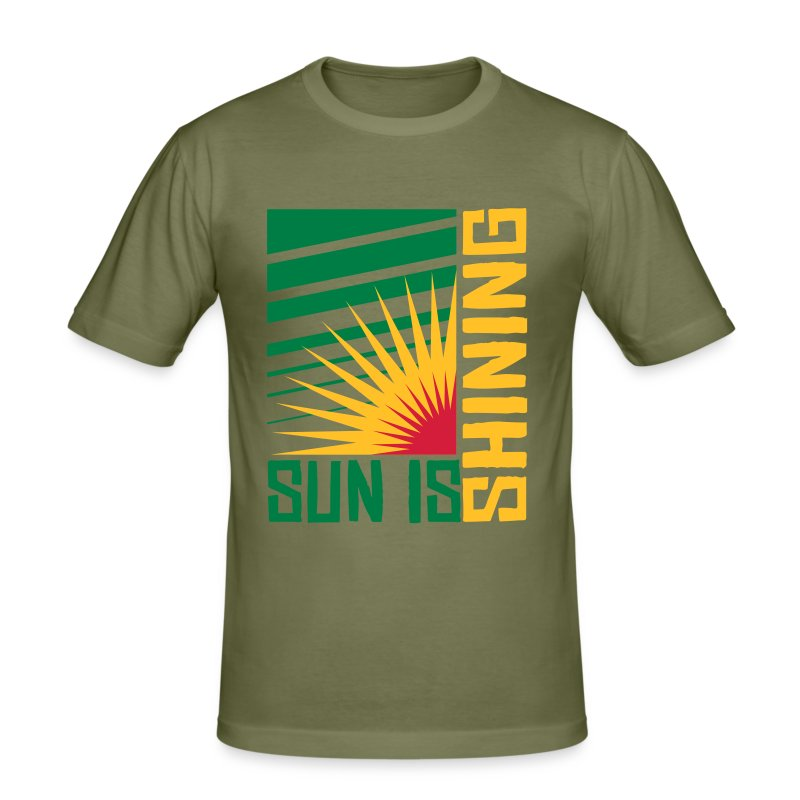 Sun is shining - Männer Slim Fit T-Shirt