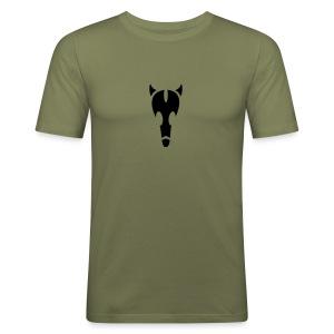 bull-skull Shirt - Männer Slim Fit T-Shirt