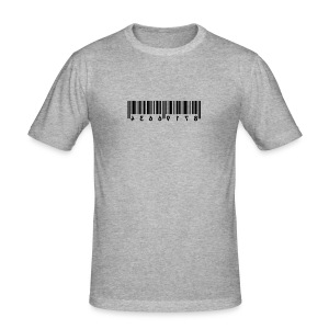 Barcode grijs gespikkeld - slim fit T-shirt