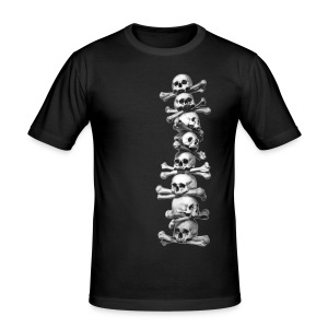 Skull T shirt - various colours - Men's Slim Fit T-Shirt