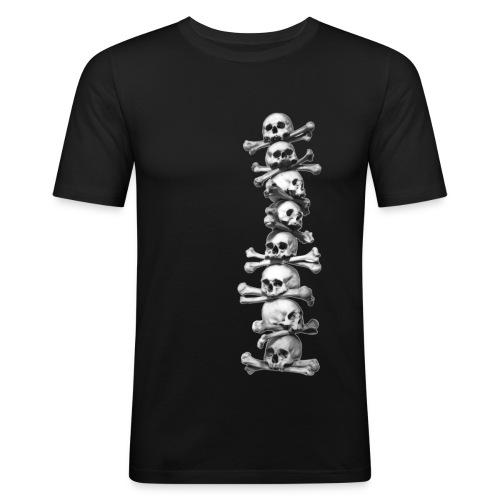 Skull T shirt - various colours - Men's Slim Fit T-Shirt