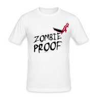 T-Shirts ~ Men's Slim Fit T-Shirt ~ Zombie Proof, Obviously!