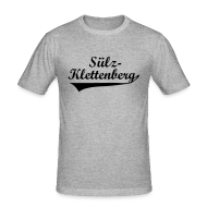 T-Shirts ~ Männer Slim Fit T-Shirt ~ Sülz-Klettenberg Shirt Farbwahl (schwarzer Druck)