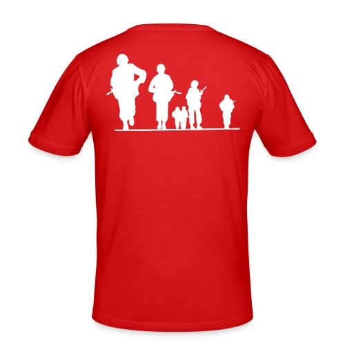 T-shirt Red Always and Forever - Men's Slim Fit T-Shirt