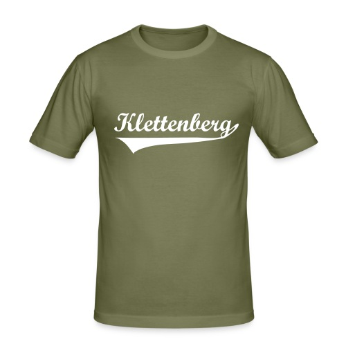 Klettenberg Sport Shirt Farbwahl (weißer Druck) - Männer Slim Fit T-Shirt