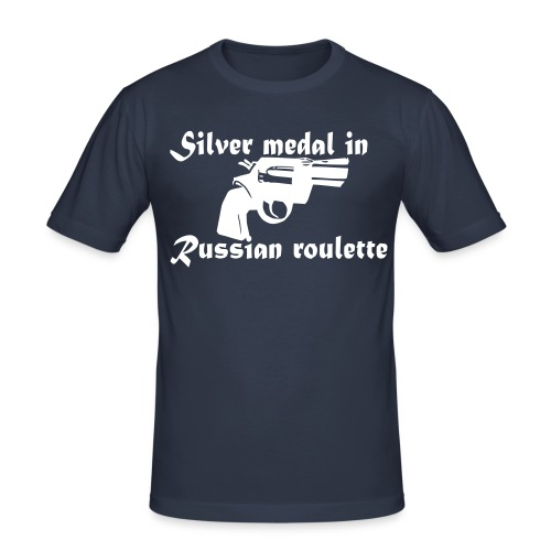 Silver medal in Russian roulette - Slim Fit T-shirt herr