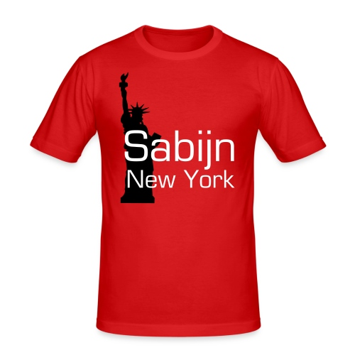 Luxe New York City Sabijn mannen - slim fit T-shirt