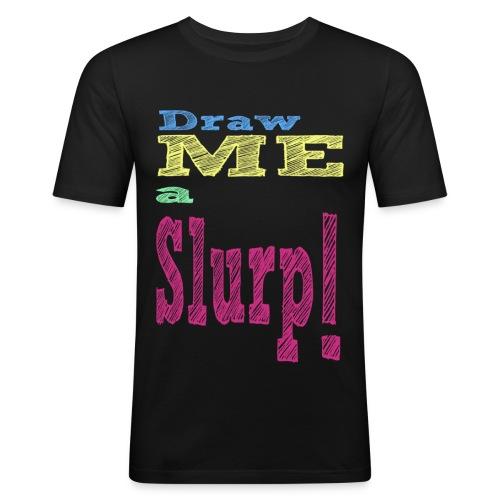 Draw me a Slurp!/H/Black - T-shirt près du corps Homme