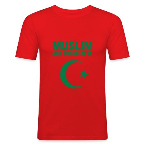 muslim et fier de l'être - T-shirt près du corps Homme