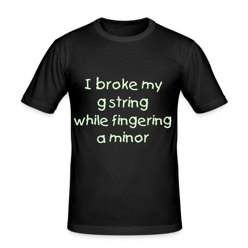Broke my g string black - slim fit T-shirt