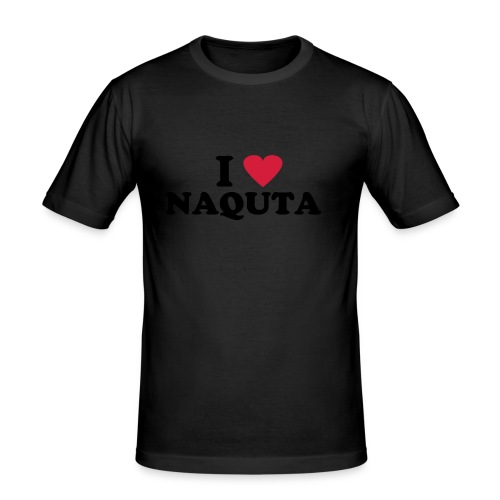 NAQUTA - I Love Naquta   Slim Fit T-Shirt Männer - Männer Slim Fit T-Shirt