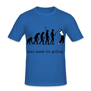 evolution golf shirt - Men's Slim Fit T-Shirt