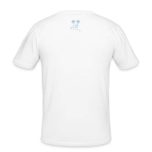 Men's Original mousey inc. Slim - White/Sky Blue - Men's Slim Fit T-Shirt