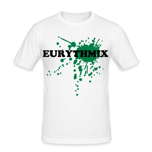 Eurythmix NEW Style - White/Green - Men's Slim Fit T-Shirt