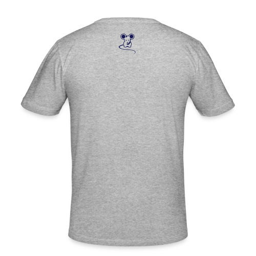 Men's Original mousey inc. Slim - White/Navy - Men's Slim Fit T-Shirt