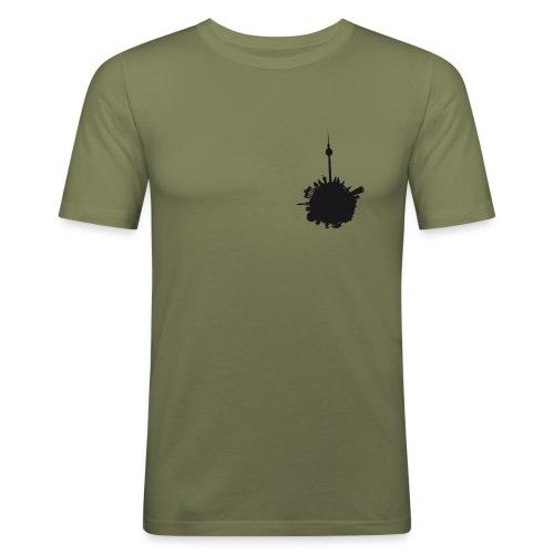 berlin.world checked Men - Männer Slim Fit T-Shirt