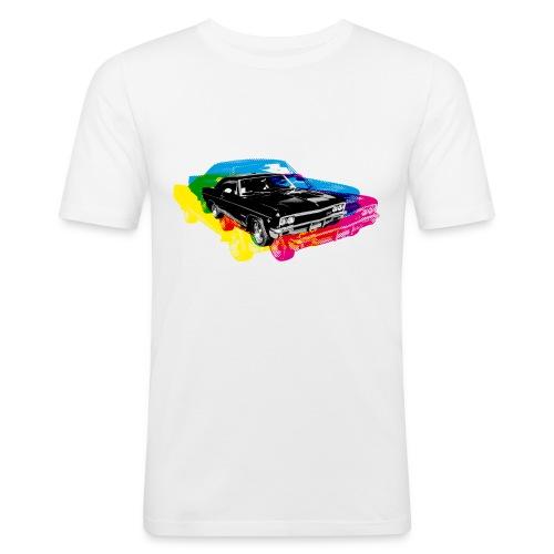 colour cars :) - Men's Slim Fit T-Shirt