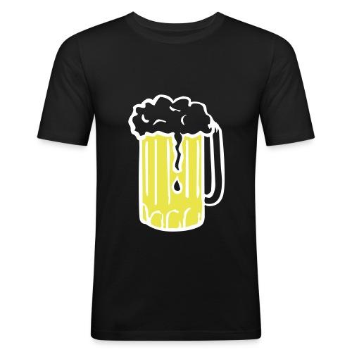 Metal. . .beer? - Slim Fit T-skjorte for menn