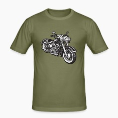 Olive chopper hog bike motorrad Men's T-Shirts