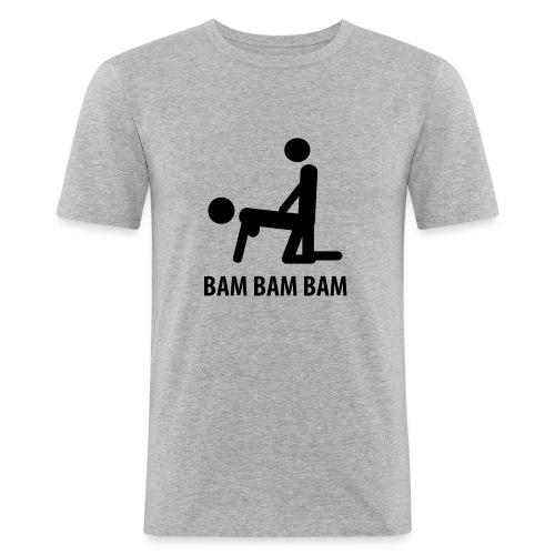 thank u mam - Men's Slim Fit T-Shirt