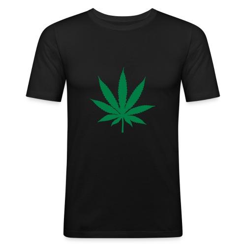 T-Shirt Marijuana - Maglietta aderente da uomo