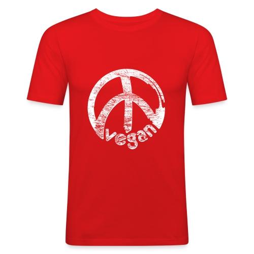 Mens 'vegan peace' - Männer Slim Fit T-Shirt