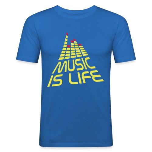 T-shrt Music is life - Obcisła koszulka męska