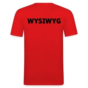 WYSIWYG - Männer Slim Fit T-Shirt