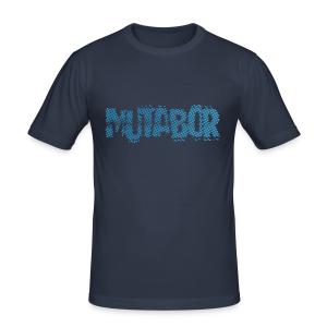 MUTABOR LOGO als interferierende Punktmatrix. - Männer Slim Fit T-Shirt