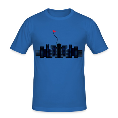 Sky blue City in Love with heart Men's Tees