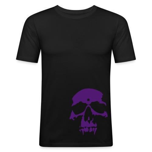 purple skull - Slim Fit T-shirt herr