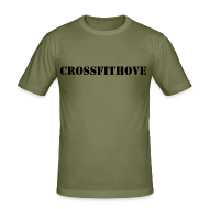 T-Shirts ~ Men's Slim Fit T-Shirt ~ Army Barbell