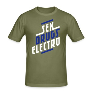 Sex, drugs and electro. (Glow in the dark) - Men's Slim Fit T-Shirt
