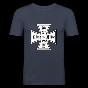 Koszulka męska slim fit (wąska) - Obcisła koszulka męska