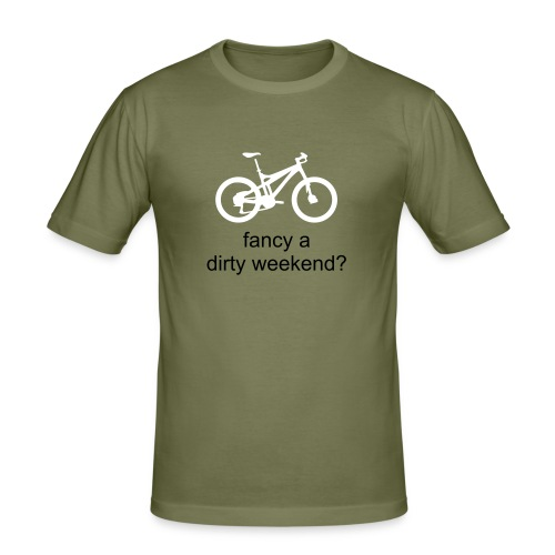 Dirty Weekend - olive - Men's Slim Fit T-Shirt