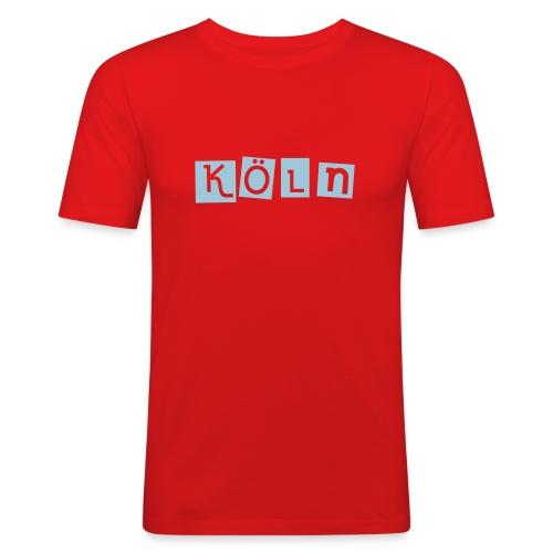 Shirt Köln rot 2 - Männer Slim Fit T-Shirt