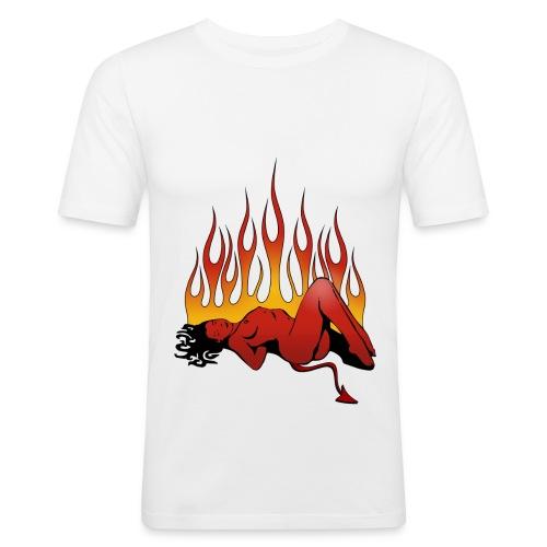 Kustom fiamme - Maglietta aderente da uomo