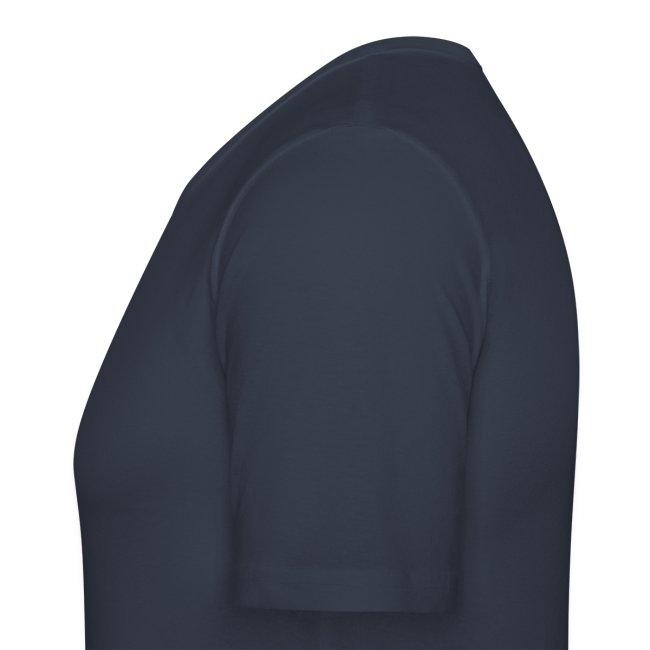 Männer Slim Fit T-Shirt - Logo hinten (Text änderbar)