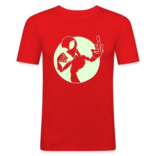 Alien Finger (Pimeässä Hohtava) - Miesten tyköistuva t-paita